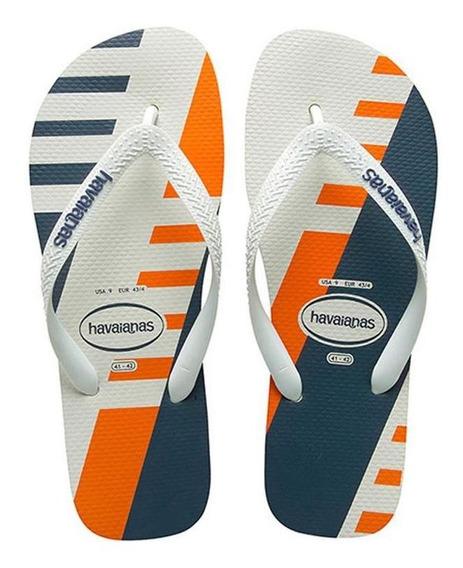Ojotas Havaianas X 12 Pares!! Modelo Trend Blanco Naranja