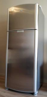 Heladera Con Freezer Whirlpool 409 Litros No Frost Acer Inox