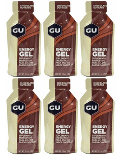 Gu Energy Gel Chocolate 6 Unidades De 32gr