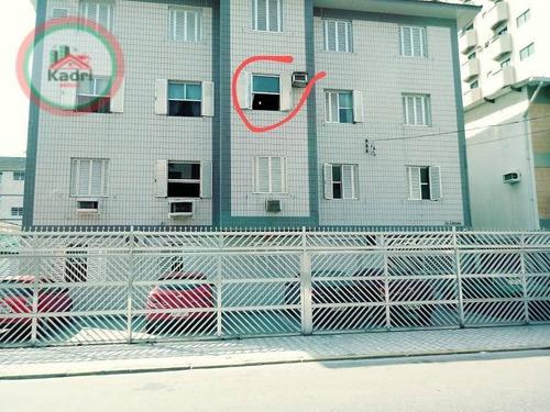 Kitnet Com 1 Dormitório À Venda, 29 M² Por R$ 130.000 - Canto Do Forte - Praia Grande/sp - Kn0492