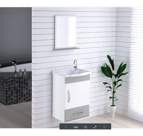 Kit Gabinete Banheiro Cinza Acessórios Para Banheiros No