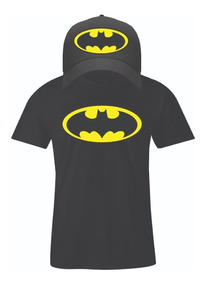 Playera Y Gorra Batman Caballero Y Juvenil