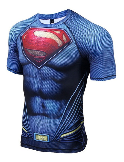 Camisa Compressão Superman 3d Pronta Entrega