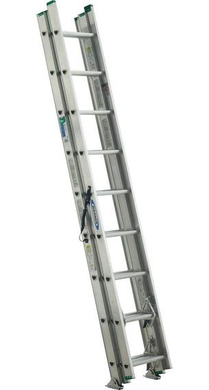 Escalera Extensión Triple Peldaño Werner D1224-3mx + Envío