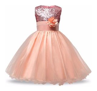 Hermoso Vestido De Bebe Niña Fiesta Modelo #23 Lentejuela