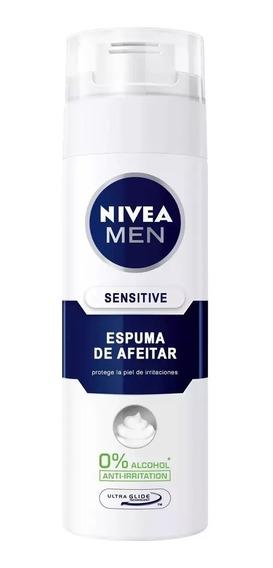 Nivea Espuma De Afeitar Sensitive Previene Irritacion 200 Ml