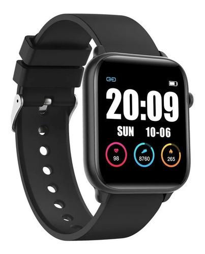"Smartwatch Nictom Smartwatch KW37 1.3"" caja de  plástico  negra malla de  tpu"