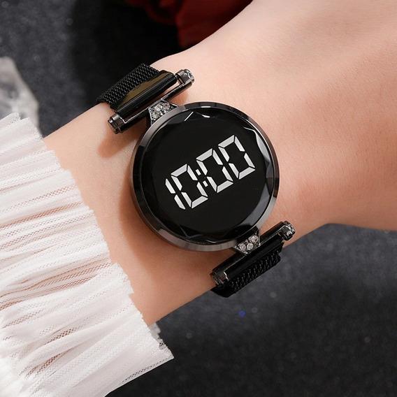 Relógio Luxuoso Feminino De Led