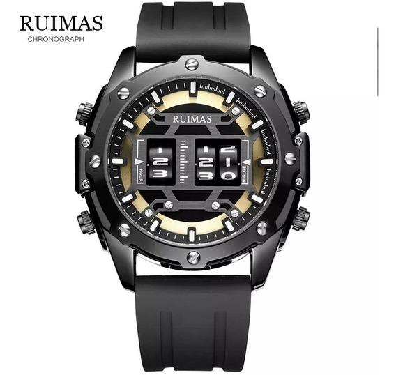 Relógio De Pulso Masculino Odômetro Luxo Premium Ruímas