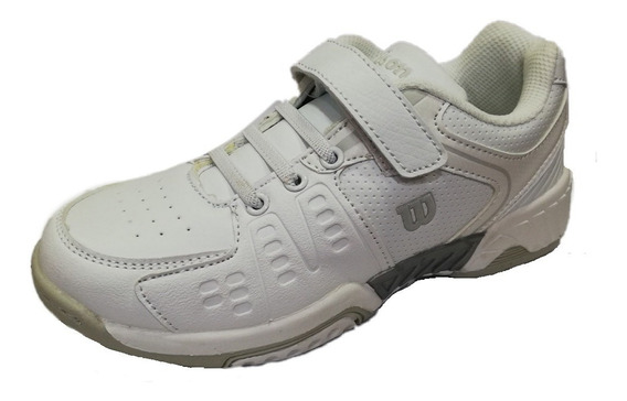 Zapatillas Wilson Tenis Niños Jr B2s All Court 2018 Blanco