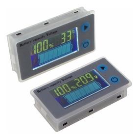 Voltímetro Medidor Bateria + Termômetro 12v 24v Carro Moto
