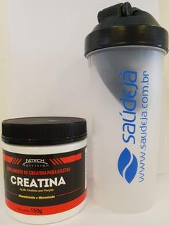 Creatina Monoidratada 150g - Nitech Nutrition + Coqueteleira