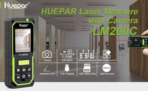 Imagen 1 de 7 de Distanciómetro Laser Huepar - Exterior Con Cámara 200 Metros