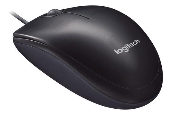 Mouse Optico Logitech M90 Preto 1000dpi Preto