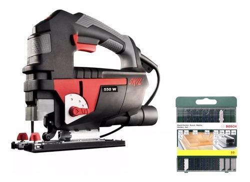 Sierra Caladora Skil 4550  6 Vel 550w  + Set Hojas Bosch