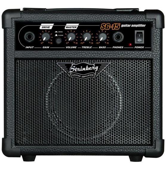 Cubo Amplificador Caixa Som Violão Guitarra 12w C/ Distorção