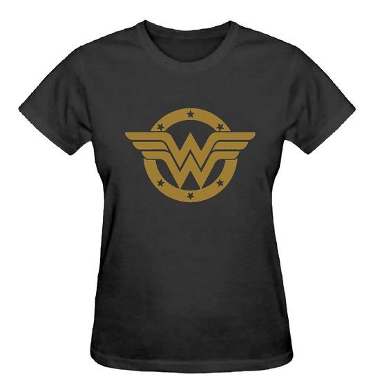 Camiseta Baby Look Feminina Mulher Maravilha Logo Camisa
