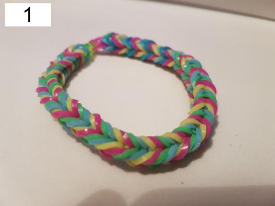 Pulseira Elastico 18 - Rainbow Loom 6 Unidades