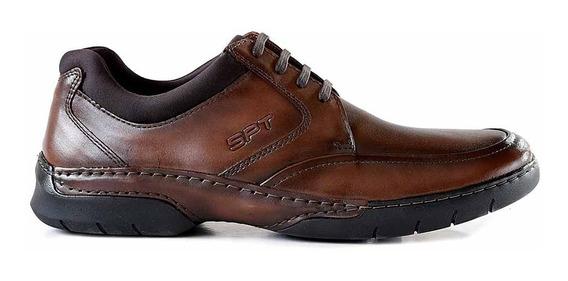 Zapato Cuero Hombre Briganti Acordonado Confort - Hcac00981