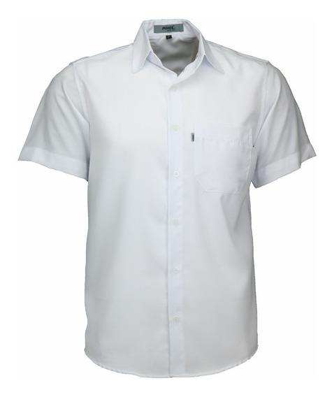 Camisa Manga Curta Tradicional Com Bolso Varias Cores