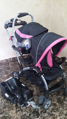 Remato Coche Doble Baby Trend Con Porta Bebe