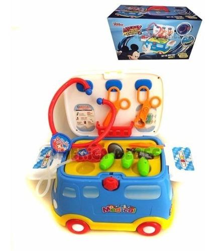Autito Caminador Set De Doctor Mickey