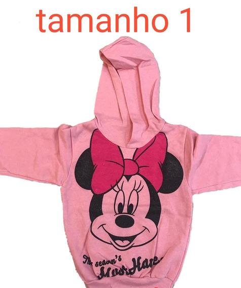 Blusa Moletom Frio Infantil Inverno Disney Feminina