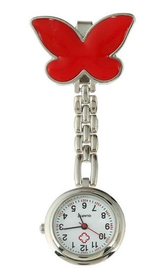 Reloj Metal Enfermera Mujer Dama Vintage Dije Mariposa B014