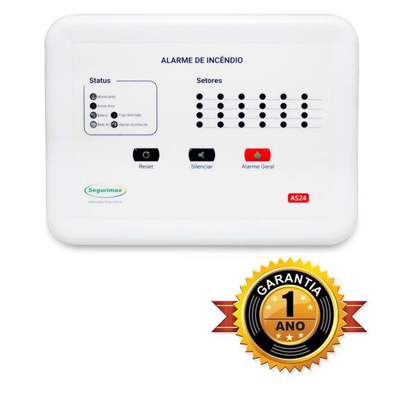 Central Alarme Incêndio 24 Setor +bateria Preço Imbatível C5