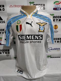 Camisa Lazio 2000-01 Serie A Veron 23 À Pronta Entrega