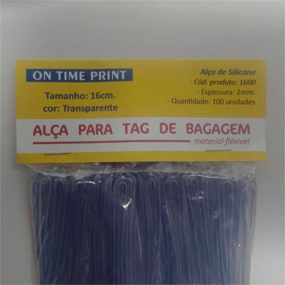 Alça Tag De Bagagem Cordão Silicone 16 Cm / 100 Uns.