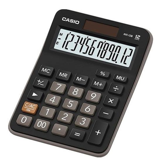 Calculadora De Mesa Casio Mx-12b 12 Dígitos Bateria Solar
