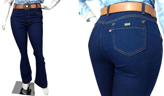 Calça Jeans Feminina Flare Tamanho Grande Plus Size Marcia