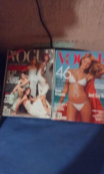 Revista Vogue Usa Importada 02 Unidades Oferta 30 Reais