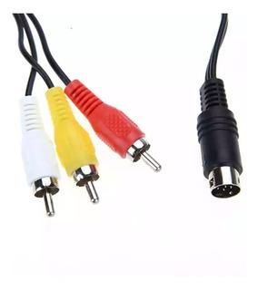 Cable 9 Pin Minidin Para Audio Video Sega Génesis 2, 3