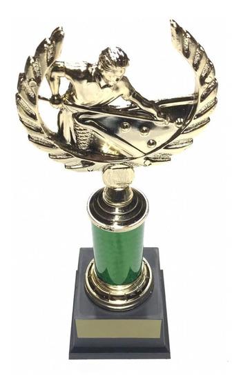 Troféu Para Campeonato Ou Torneio De Sinuca Bilhar Snooker