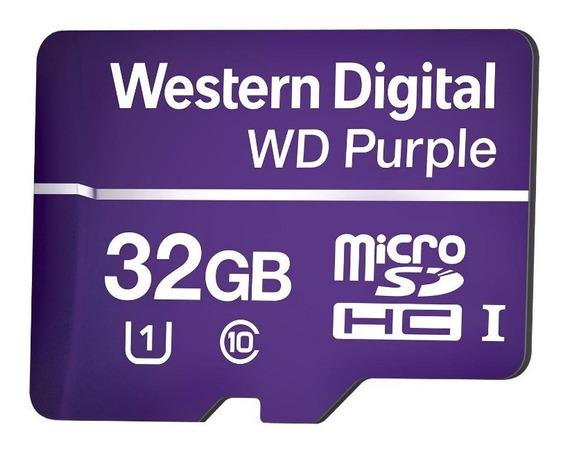 Cartão De Memória Micro Sd 32 Gb Wd Purple - Uso Em Câmera