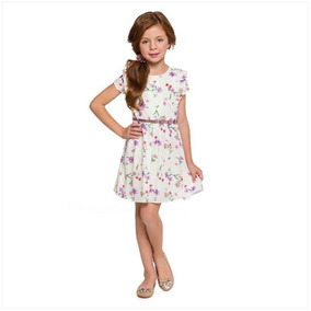 Vestido Infantil De Manga Curta