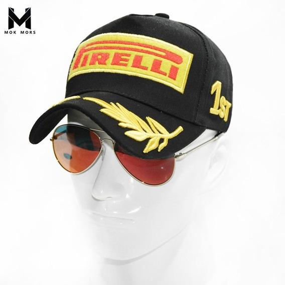 Boné F1 Original Pirelli Podium Preto Pronta Entrega