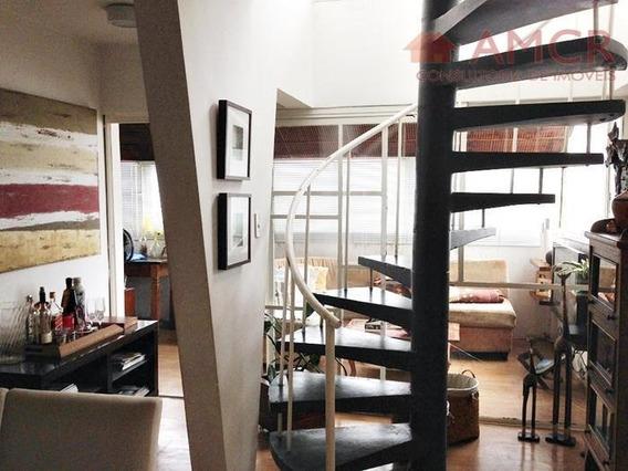 Cobertura Duplex Linda E Espaçosa, 236 M², 3 Dorm, 1 Suíte, 2 Vagas, Alto Padrão, Aceita Permuta - Co0006