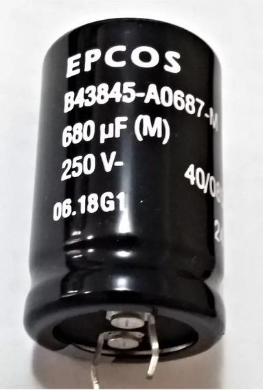 Capacitor Eletrolitico 680uf X 250v Epcos B43845