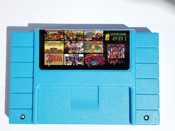 Cartucho Super Nintendo 49in1 Donkey Kong Super Mario World