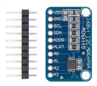 Modulo Ads1115 Amplificador De Ganancia Programable 16 B Adc