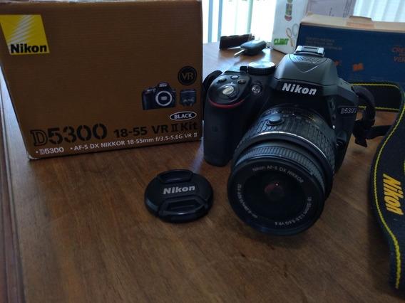 Câmera Nikon D5300 Kit 18-55mm + Cartão De 64gb Sandisk