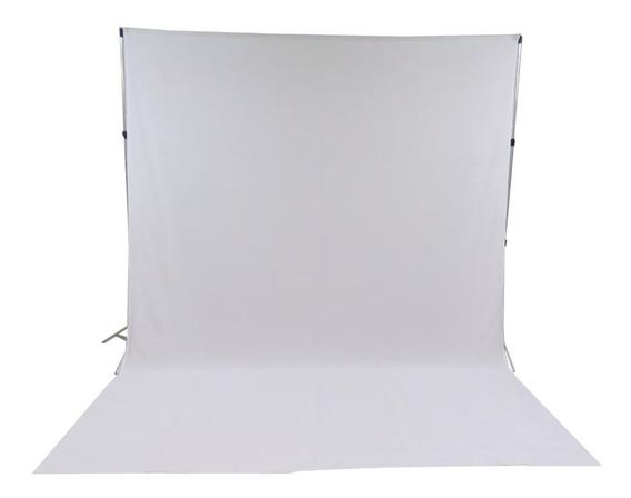 Suporte Fundo Infinito + Tecido 3x3 Branco + Bag + Presilhas