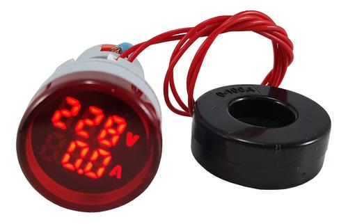 rojo Panel De Medidor De Voltaje