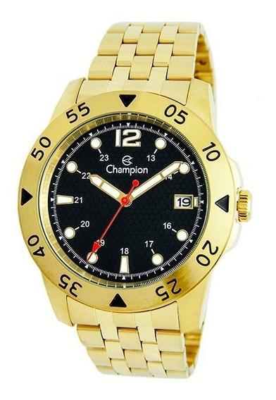 Lançamento Relógio Champion Masculino Dourado Fgrátis