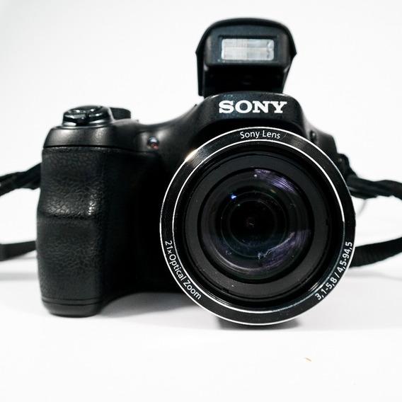 Câmera Digital Sony Dsc-h100 Preta 16.1mp, Lcd 3.0 Top Usada
