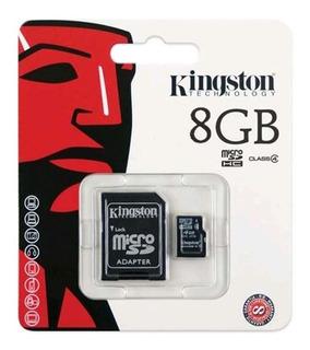 Cartão De Memória Micro Sd 8gb Com Adap Sd Classe4- Kingston