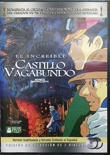 Dvd El Increíble Castillo Vagabundo Hayao Miyazaki 2 Discos
